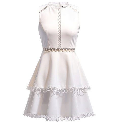 Boho Queen White Tier Dress