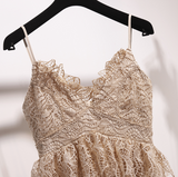 Boho Queen Apricot Lace Dress