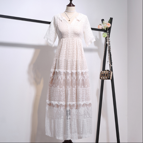 Boho Queen Long Lace Dress