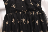 Boho Queen Black Embroidery Star Dress