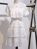 Boho Queen White lace dress