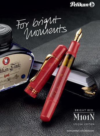 Step Back in Time with Pelikan's M101N Bright Red