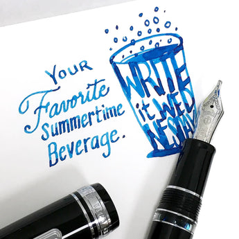 Write it Wednesday Giveaway - Robert Oster Soda Pop Blue