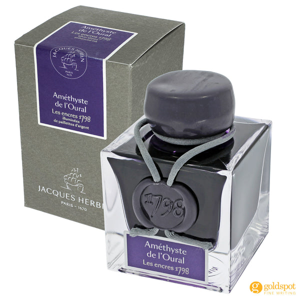 J Herbin 1798 Amethyste de l'Oural fountain pen ink bottle