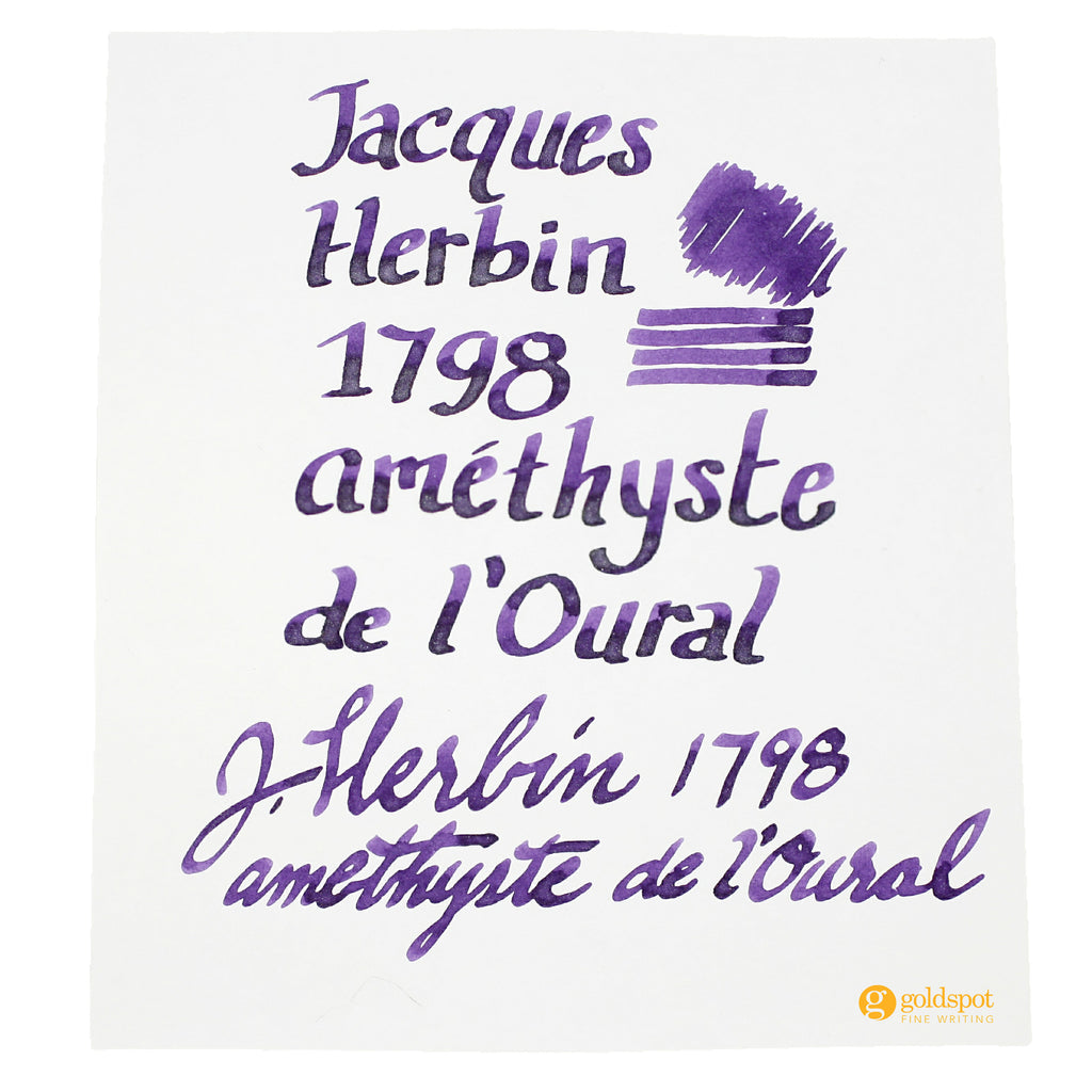 Jacques Herbin 1798 Amethyste de l'Oural ink writing sample