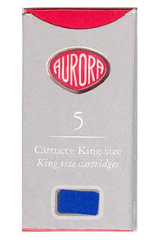 Aurora Ink Cartridges in Blue - Pack of 5 Fountain Pen Cartridges