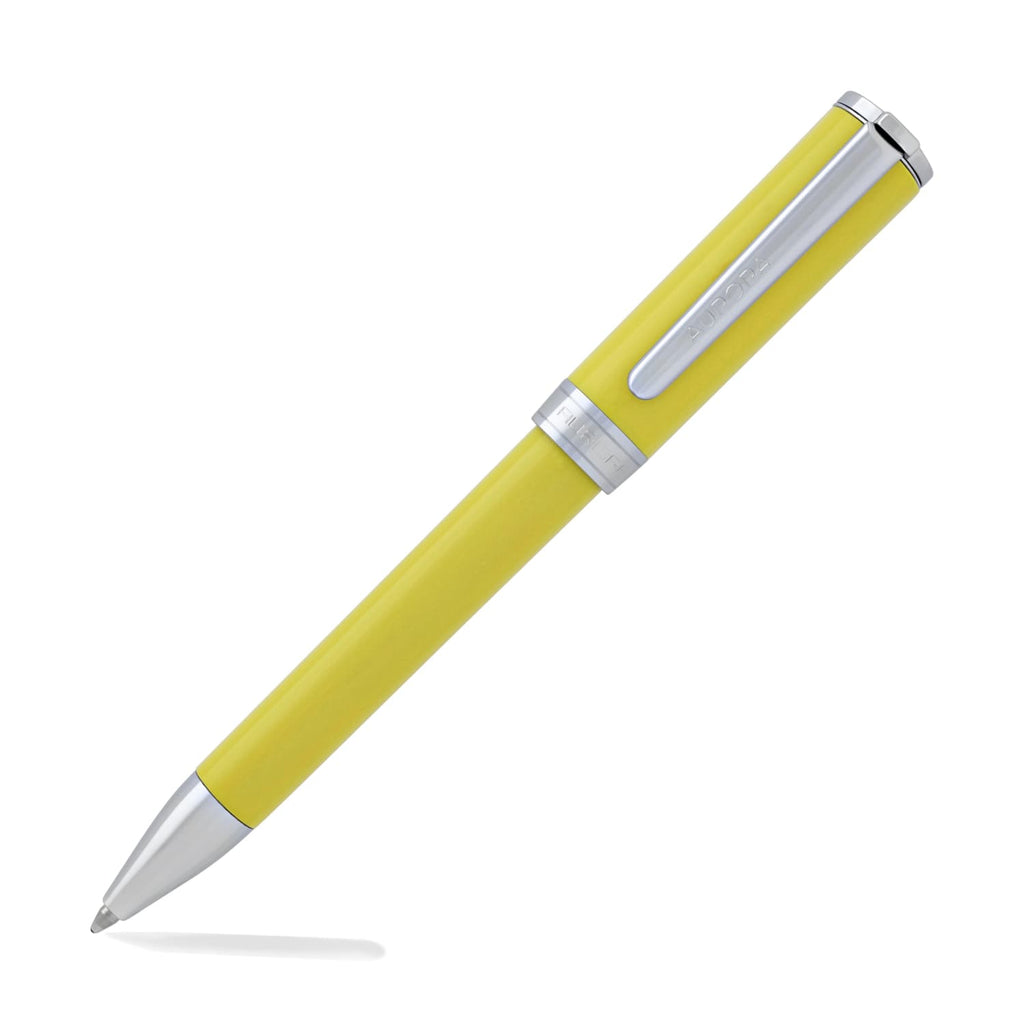 Aurora Tu Ballpoint Pen in Yellow with Chrome Trim Ballpoint Pen