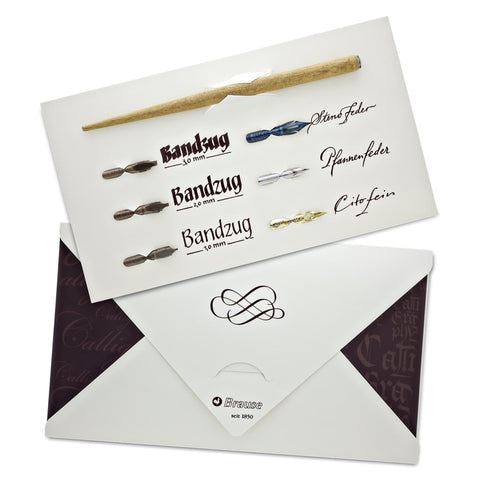 Brause Calligraphy Set - Includes 6 Nibs And 1 Wood Nib Holder Misc