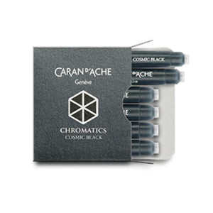 Caran dAche Chromatics Ink Cartridges in Cosmic Black - Pack of 6 Fountain Pen Cartridges