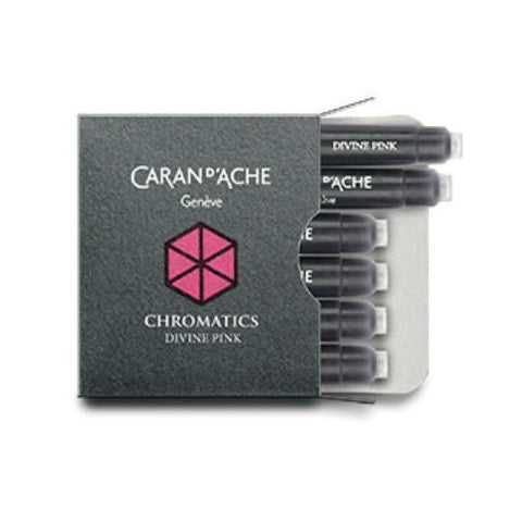 Caran dAche Chromatics Ink Cartridges in Divine Pink - Pack of 6 Fountain Pen Cartridges