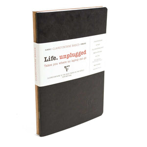 Clairefontaine Basic Staplebound Duo Ruled Notebook in Black and Tan - 5.75 X 8.25 Notebook