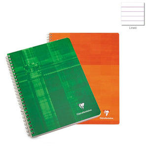 Clairefontaine Classic Wirebound Ruled Notebook in Assorted Colors- 8.5 x 11 Notebook