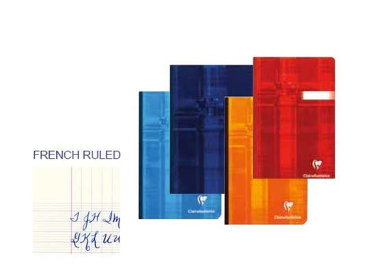 Clairefontaine Clothbound French Ruled Notebook in Assorted Colors - 6.75 x 8.75 Notebook