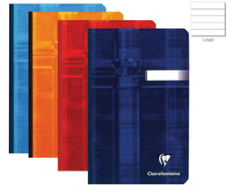 Clairefontaine Clothbound Ruled Notebook in Assorted Colors - 4.25 x 6.75 Notebook