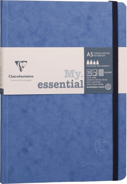 Clairefontaine Essential Numbered Ruled Notebook in Blue A5 Pen