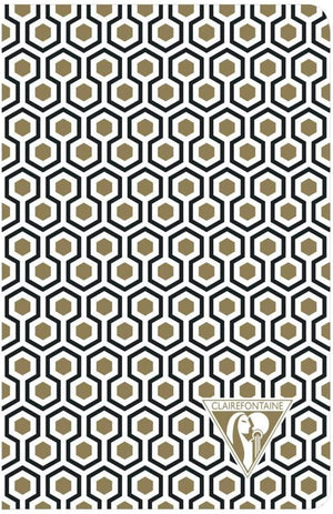 Clairefontaine Neo Deco Notebook in Honeycomb Lined - 5.5 x 8.25 (A5) Notebook