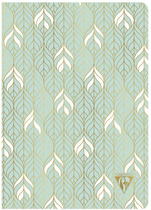 Clairefontaine Neo Deco Notebook in Sea Green Lined - 6 x 8.25 (A5) Notebook