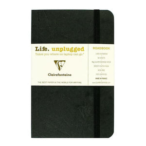 Clairefontaine Roadbook Ruled Notebook in Black - 3.5 x 5.5 Notebook