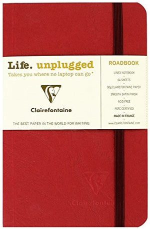 Clairefontaine Roadbook Ruled Notebook in Red - 3.5 x 5.5 Notebook