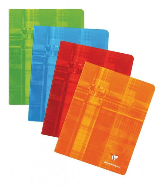Clairefontaine Staplebound French Ruled Notebook in Assorted Colors - 6.5 x 8.25 Notebook