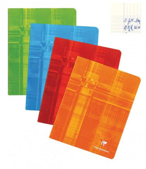 Clairefontaine Staplebound French Ruled Notebook in Assorted Colors - 8.25 x 11.75 Notebook