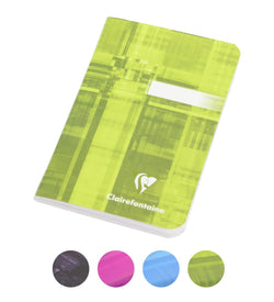 Clairefontaine Staplebound Ruled Notebook in Assorted Colors - 3.5 x 5.5 Notebook