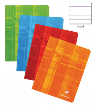 Clairefontaine Staplebound Ruled Notebook in Assorted Colors - 4.25 x 6.75 Notebook