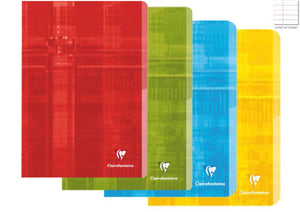 Clairefontaine Staplebound Ruled Notebook in Assorted Colors - 6.5 x 8.25 Notebook