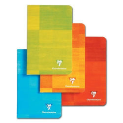 Clairefontaine Staplebound Ruled Notebook in Assorted Colors - 8.25 x 11.75 Notebook