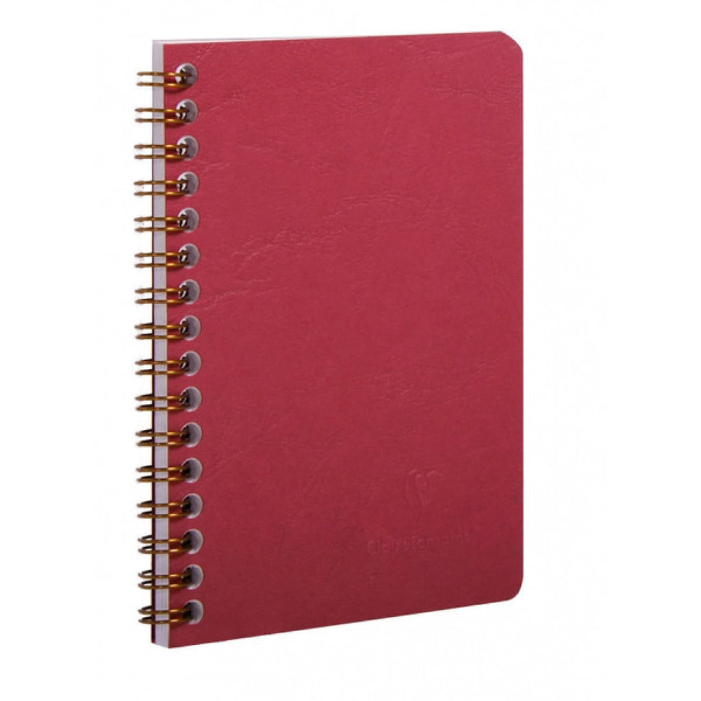 Clairefontaine Wirebound Basics Ruled Notebook in Red - 8.25 x 11.75 Notebook