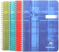 Clairefontaine Wirebound Graph Notebook in Assorted Colors - 6 x 8.25 Notebook