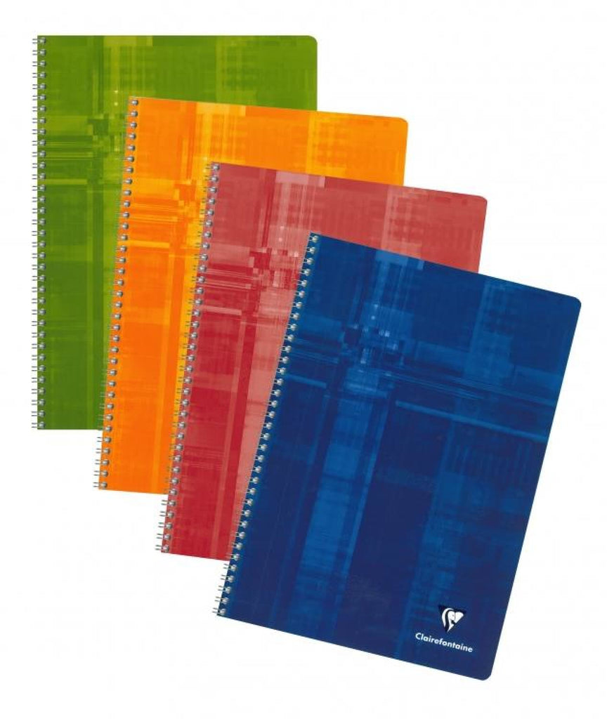 Clairefontaine Wirebound Graph Notebook in Assorted Colors- 8.25 x 11.75 Notebook