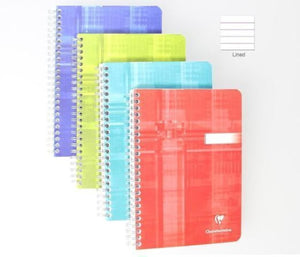 Clairefontaine Wirebound Ruled Notebook in Assorted Colors - 6 x 8.25 Notebook