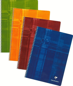 Clairefontaine Wirebound Ruled with Margin Notebook in Assorted Colors - 8.25 x 11.75 Notebook