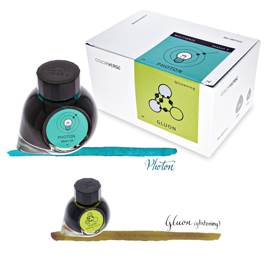 Colorverse Multiverse Bottled Ink in Photon & Gluon - Set of 2 Bottled Ink