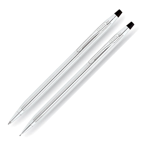 Cross Classic Century Ballpoint Pen & 0.7mm Mechanical Pencil Set in Lustrous Chrome Pen and Pencil Set