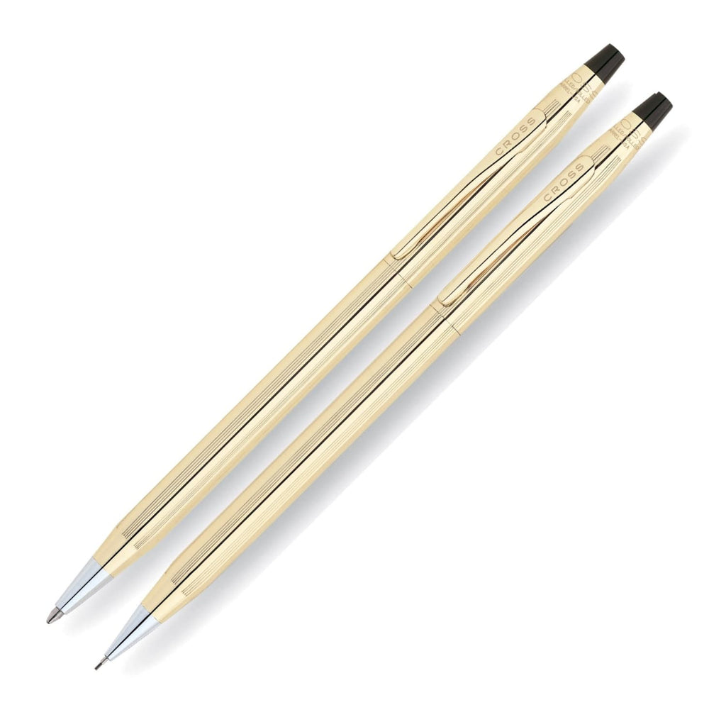 Cross Classic Century Ballpoint Pen & .7mm Mechanical Pencil Set - 10K Gold Filled / Rolled Gold Pen and Pencil Set