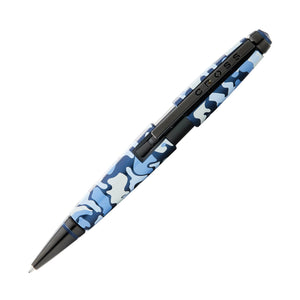 Cross Edge Capless Rollerball Pen in Blue Camo with Black PVD Trim Rollerball Pen