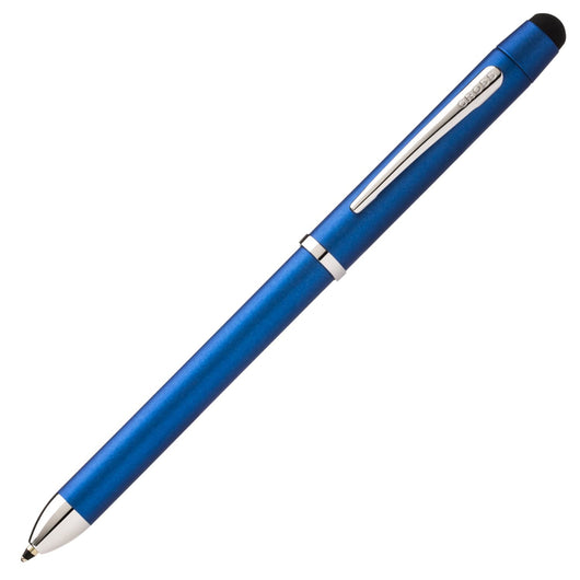 Cross Tech 3+ Multi Functional Pen in Metallic Blue with Chrome Trim Multi-Function Pen