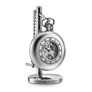 Dalvey Clock Skeletel Pocket Watch & Stand
