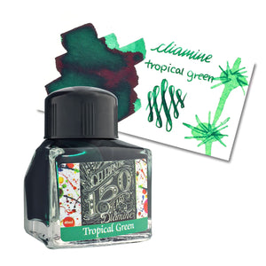 Diamine 150th Anniversary Bottled Ink in Tropical Green - 40 mL Bottled Ink