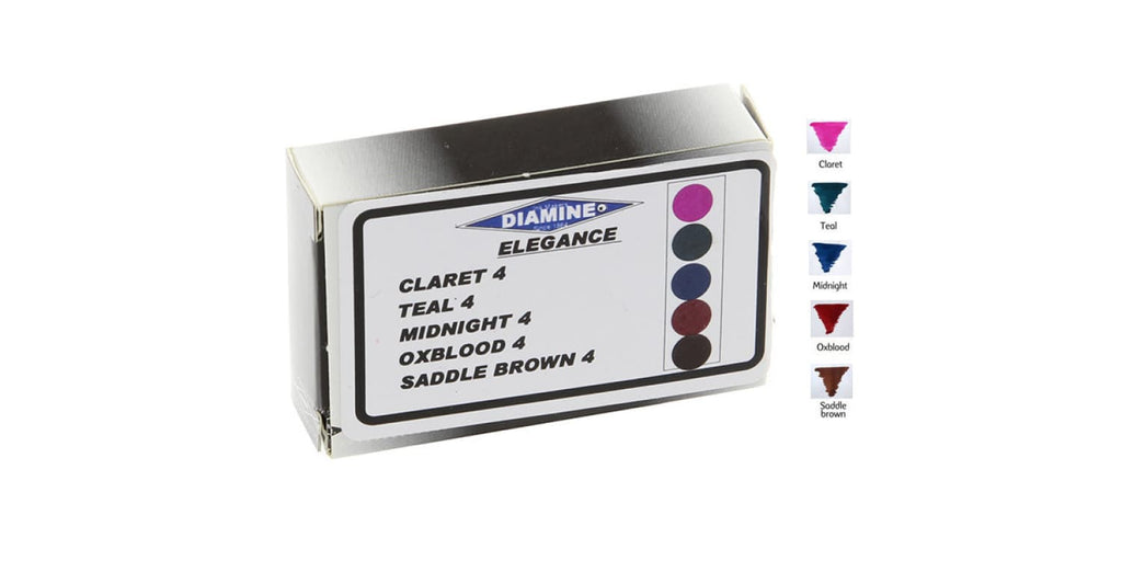 Diamine Ink Cartridge in Elegance - Pack of 20 Fountain Pen Cartridges