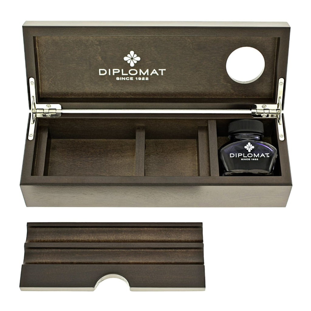 Diplomat Wooden Desk Case with Ink in Wenge Pen
