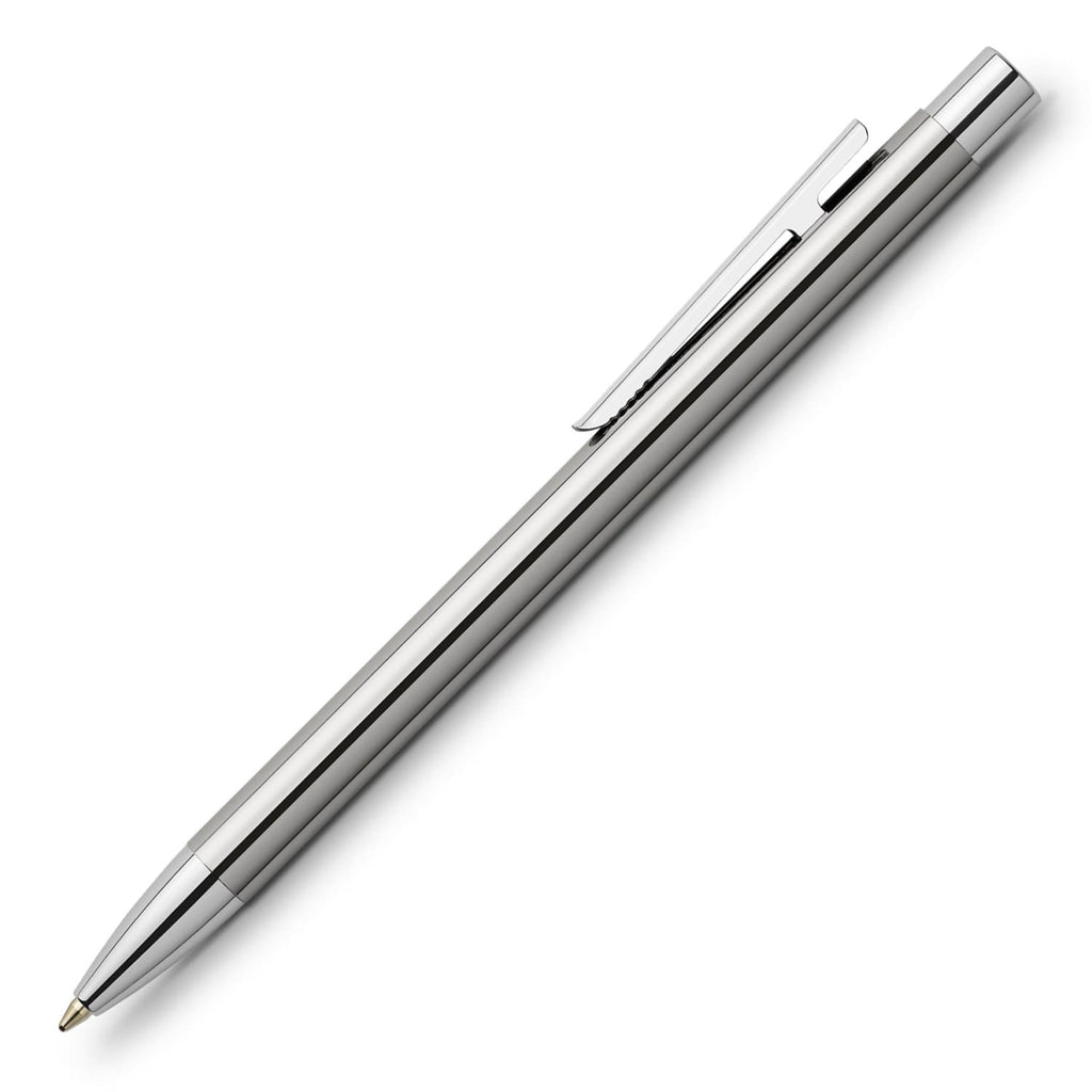 Faber-Castell Design Neo Slim Ballpoint Pen in Stainless Steel Polished Pen