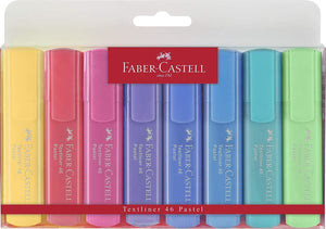 Faber Castell Pastel Textliner Marker Pen in Assorted Colors - Pack of 8 Marker