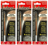 Fisher Space Ballpoint Pen Refill in Red - Medium Point - Pack of 3 Ballpoint Pen Refill