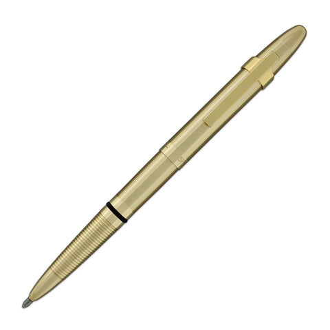 Fisher Space Pen Bullet Ballpoint Pen with Clip - Lacquered Brass Ballpoint Pen
