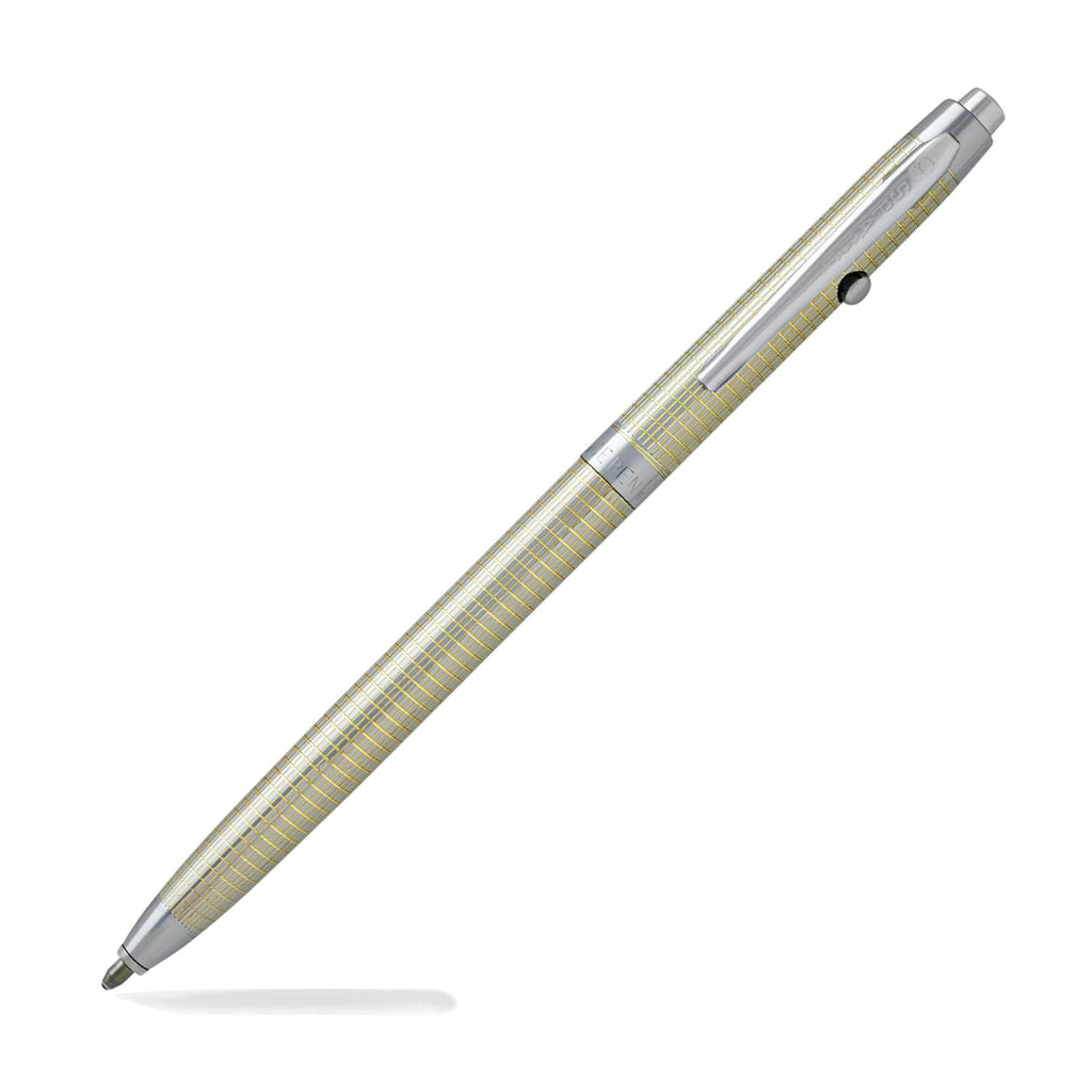 Fisher Space Pen Shuttle Ballpoint Pen in Golden Grid Design Ballpoint Pen