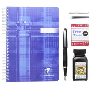 Gift Set with a Fountain Pen Bottled Ink Notebook & Ink Cartridge Gift Set