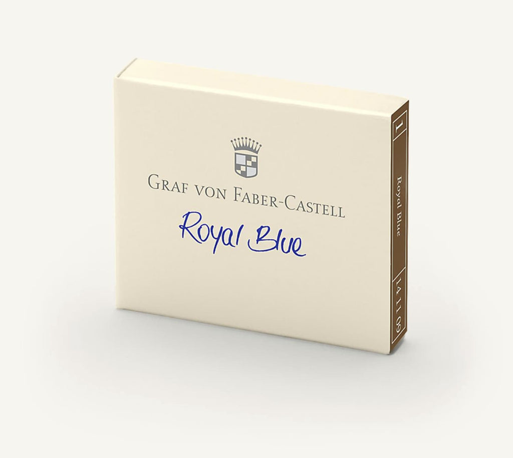 Graf von Faber Castell Ink Cartidges in Royal Blue - Pack of 6 Fountain Pen Cartridges